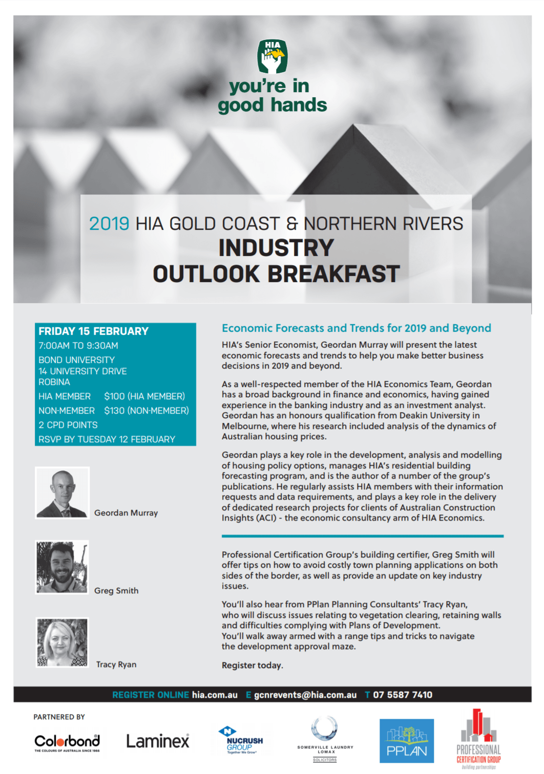 HIA Gold Coast Northern Rivers Industry Outlook Breakfast